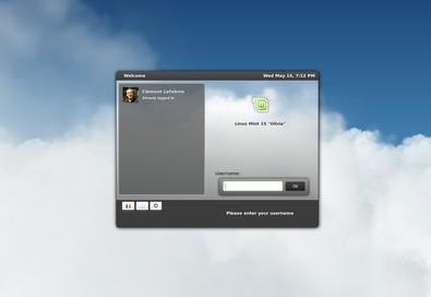 Pantalla de inicio de Linux Mint.