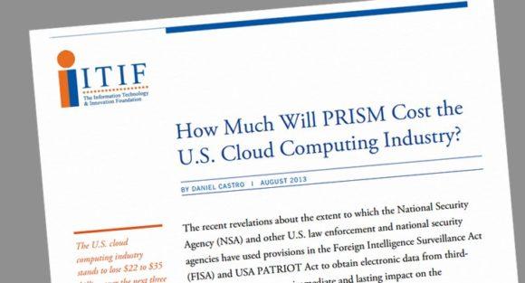 ¿Cuánto costará PRISM a la industria estadounidense de la nube?