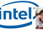 Gaby Gallardo y logotipo Intel