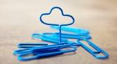 Clip color azul convertido en representación estándar de una nube