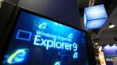 Pantalla muestra el texto Microsoft Internet Explorer 9