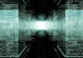 Código binario da forma a racks de un centro de datos