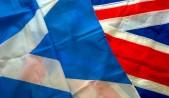 banderas Reino Unido y Escocia