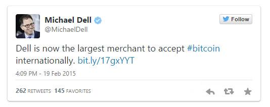 Michael Dell Bitcoin tweet