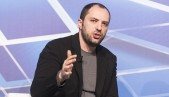 El CEO de WhatsAPP, Jan Koum, en el Mobile World Congress de 2014, Barcelona,