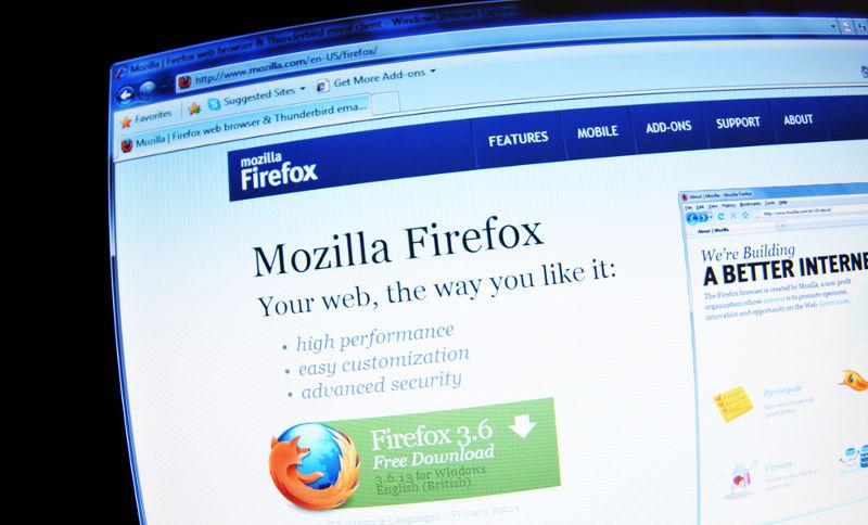 Navegador Mozilla Firefox en pantalla de PC