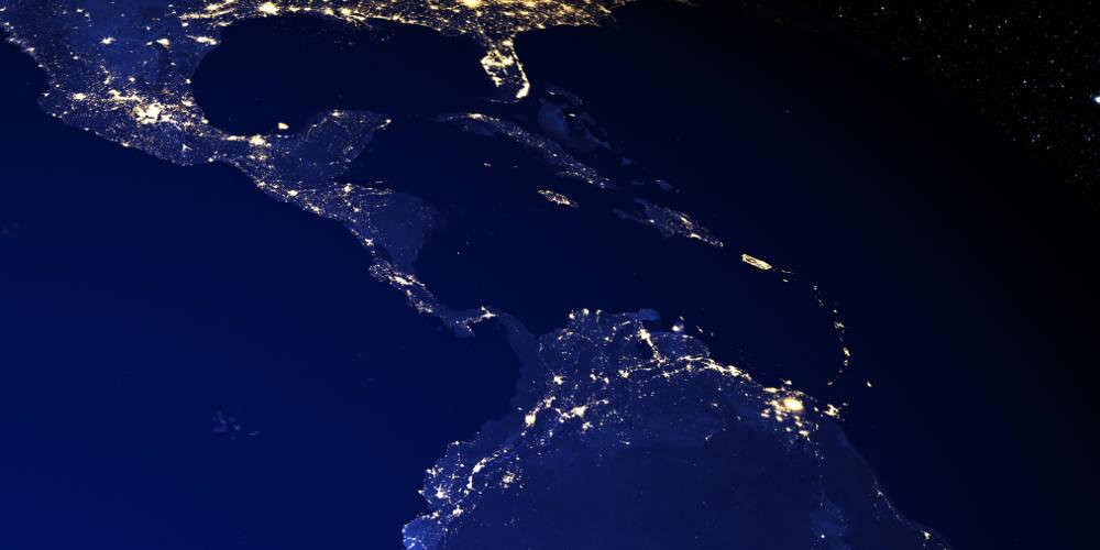 El Caribe Centroamerica vista satelital