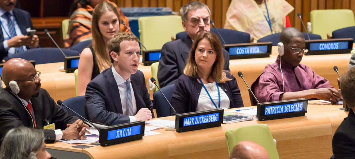 Mark Zuckerberg en la ONU