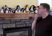 Linus Torvalds en su hogar