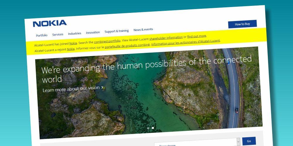 Sitio web de Nokia