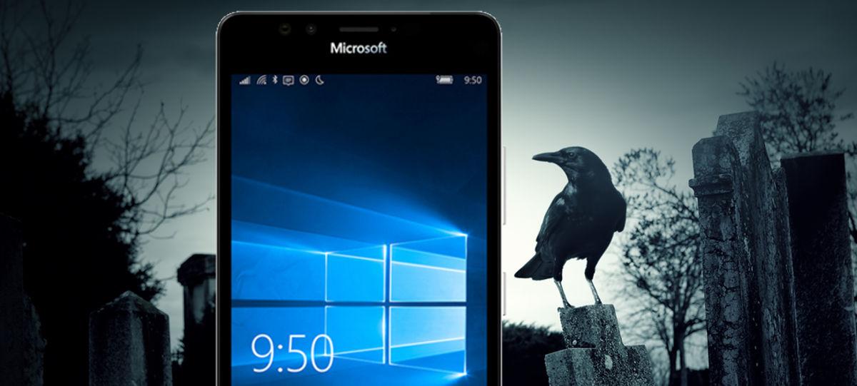 Windows Mobile en cementerio