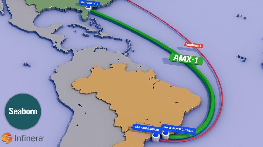 Infinera y Seaborn conectan Brasil con Estados Unidos mediante red submarina
