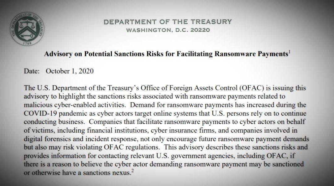 EEUU sancionará a quienes ayuden a víctimas de ransomware a pagar el rescate