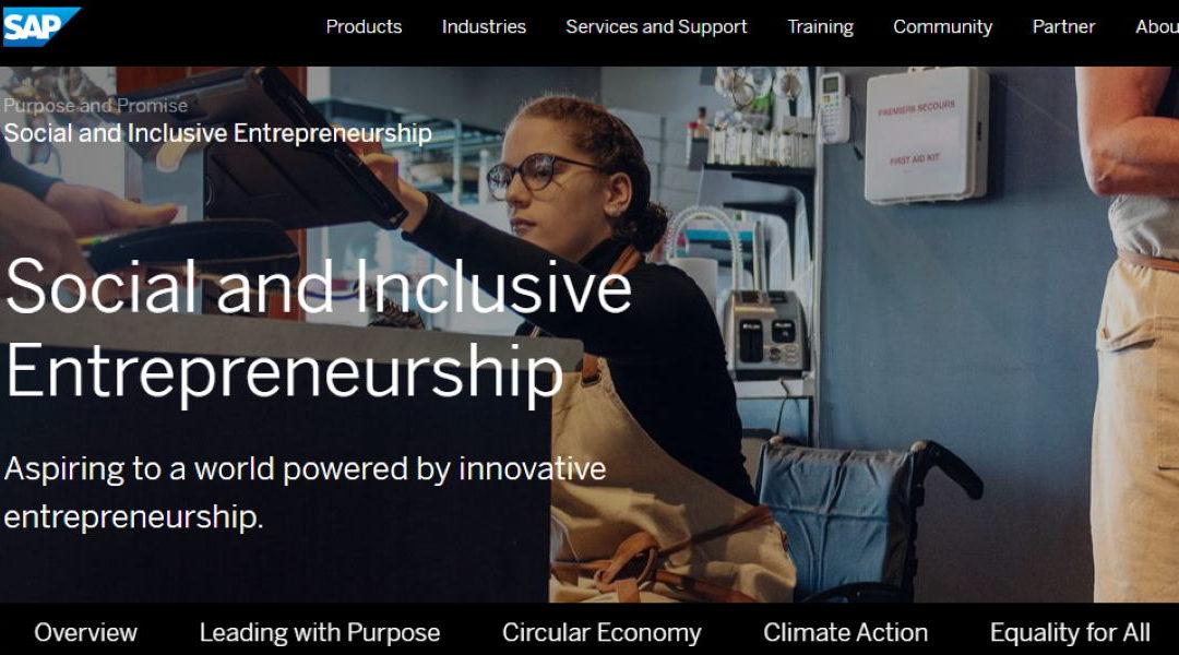 SAP lanza la iniciativa para movilizar a las organizaciones a gastar más en empresas sociales y negocios diversos